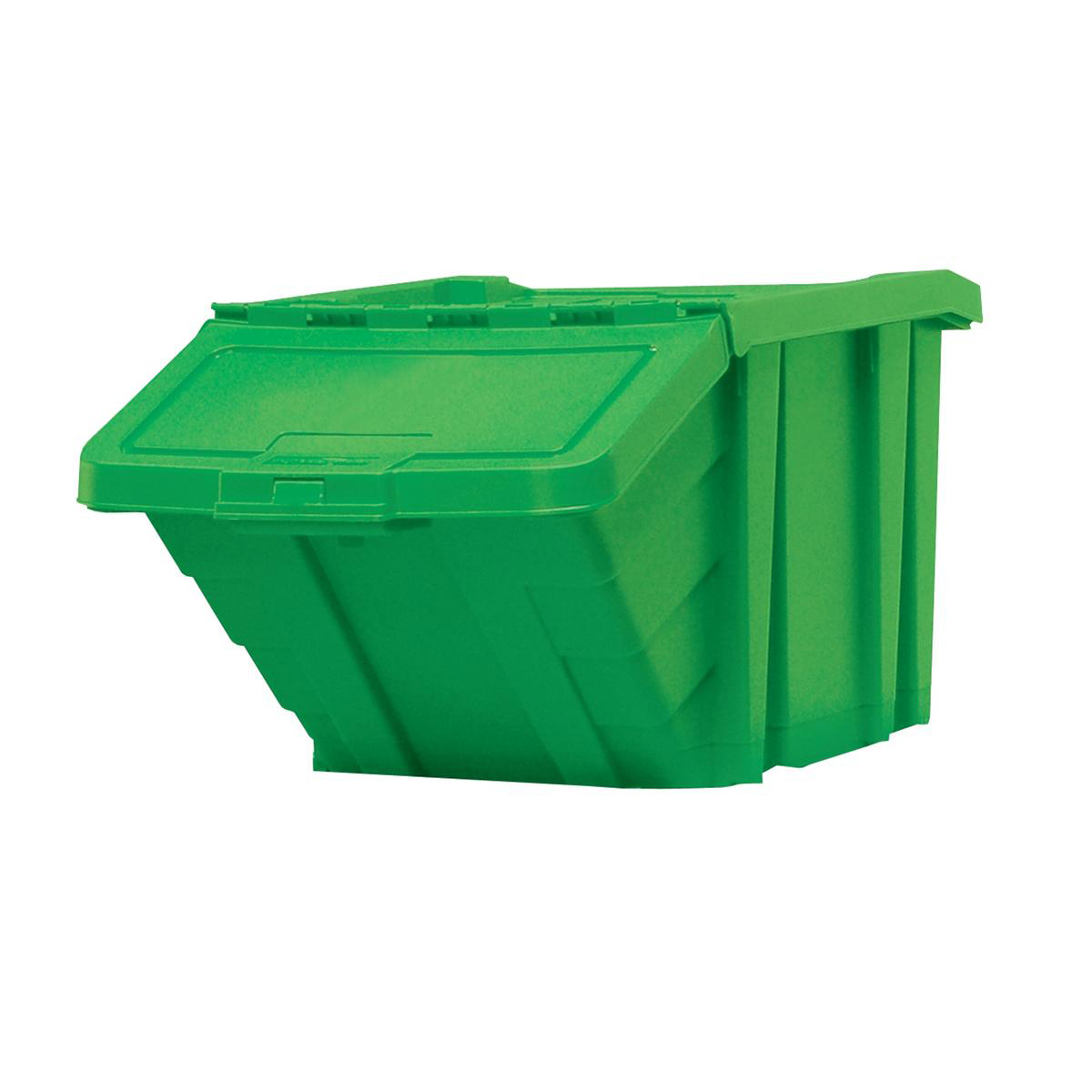Recycle Storage Bin and Lid Green 400x635x345mm