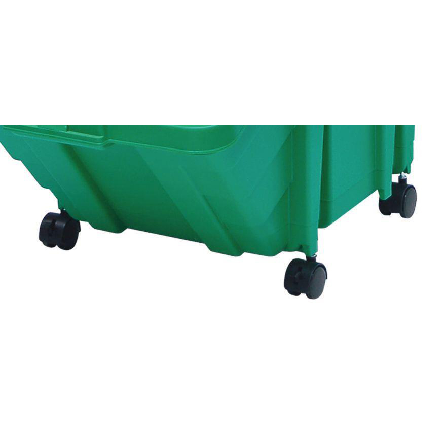 Recycling Bins Castor Set for Large Recycling Storage Bins 0.16kg 40x50x30mm Black