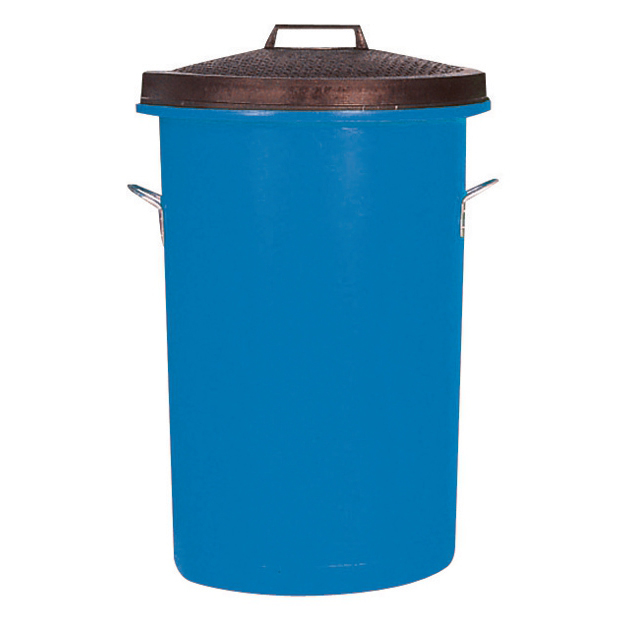 Rubbish Bins Dustbin Heavy Duty 85 Litres Blue