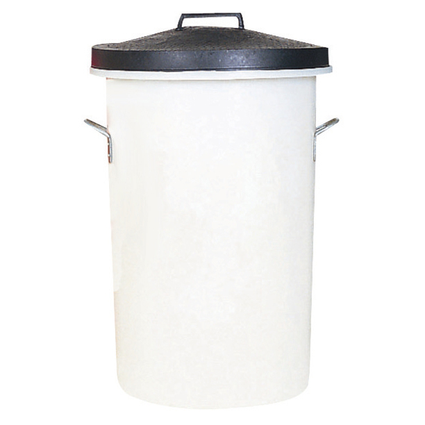 Dustbin Heavy Duty 85 Litres White