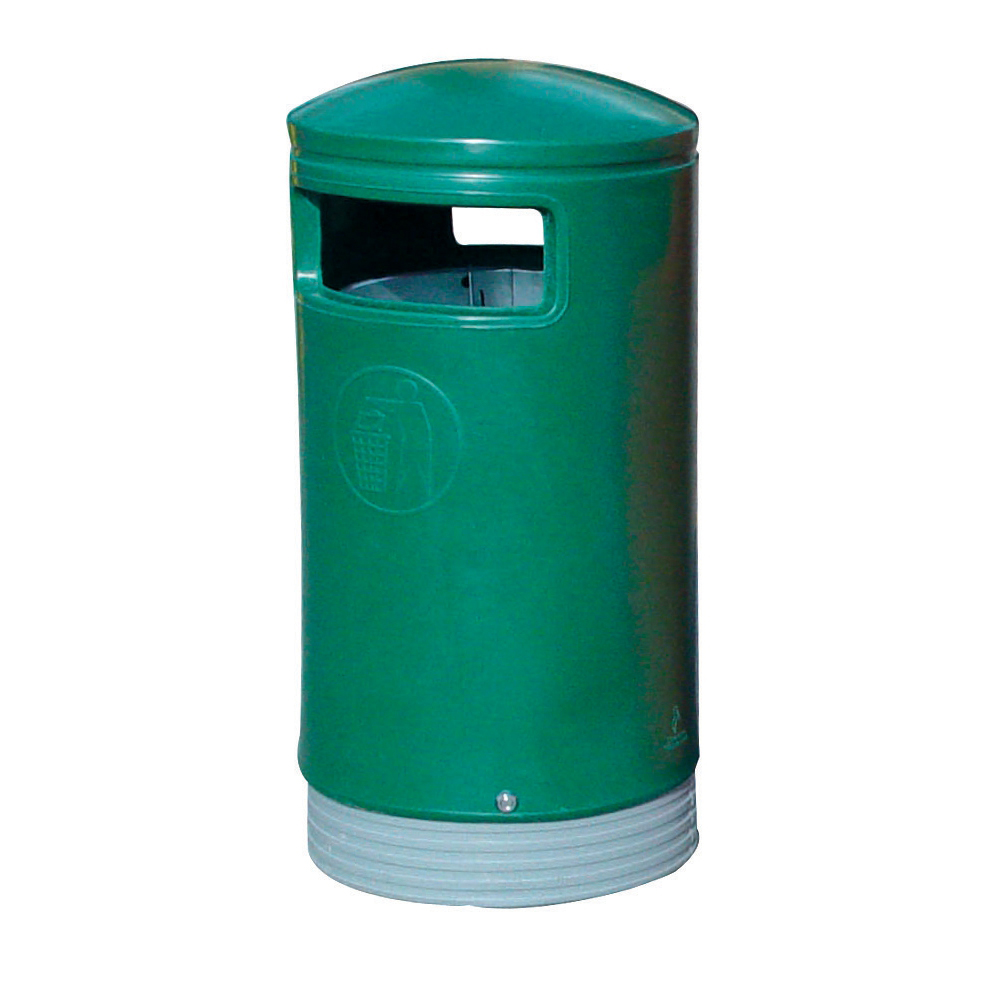 Rubbish Bins Outdoor Hooded Top Bin 110 Litres Easy Clean Green