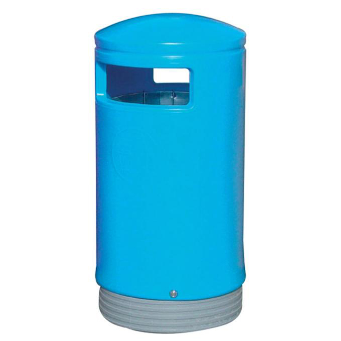 Rubbish Bins Outdoor Hooded Top Bin 110 Litres Easy Clean Blue