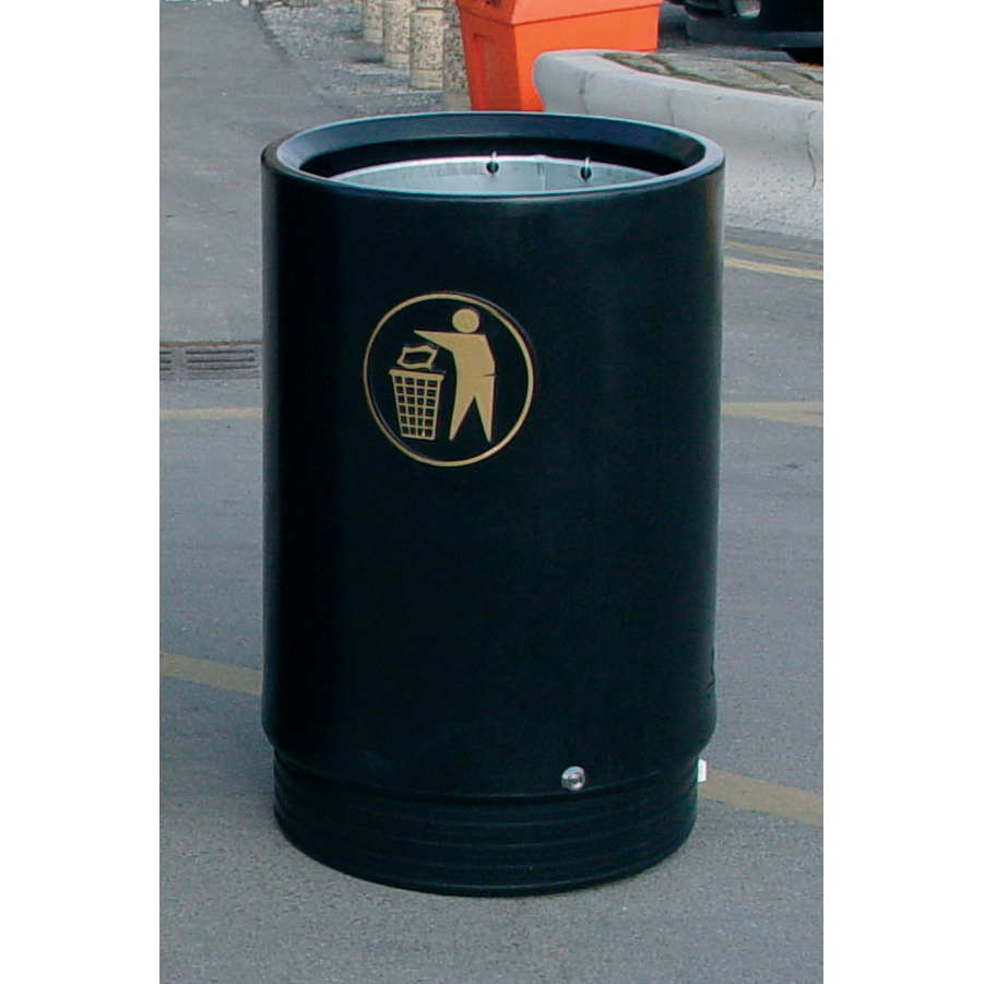 Open Top Bin Heavy Duty 75 Litres Black and Gold