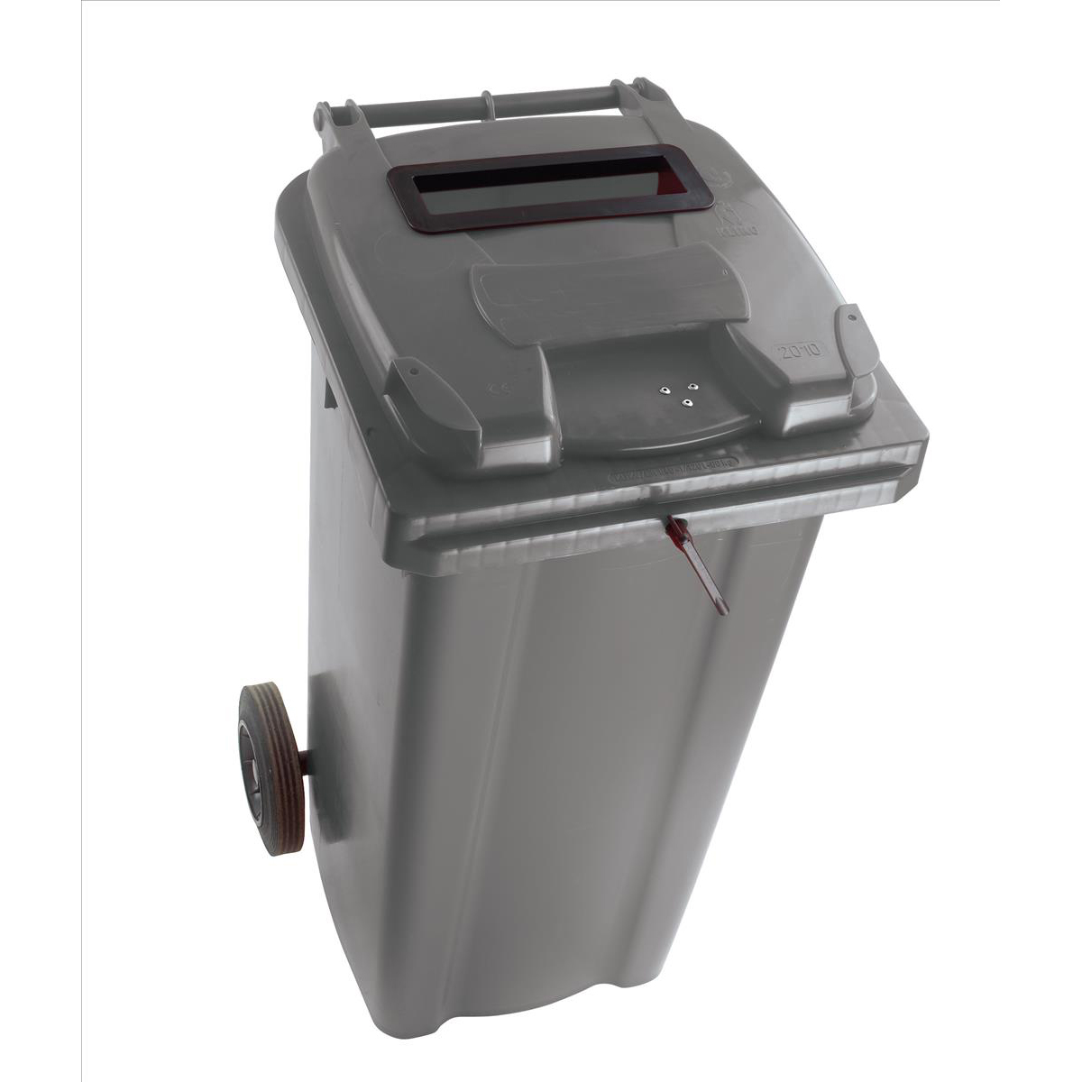 Wheeled Bin UV Stabilised Polyethylene with Rear Wheels Lid Lock 120 Litre Capacity 480x555x930mm Grey