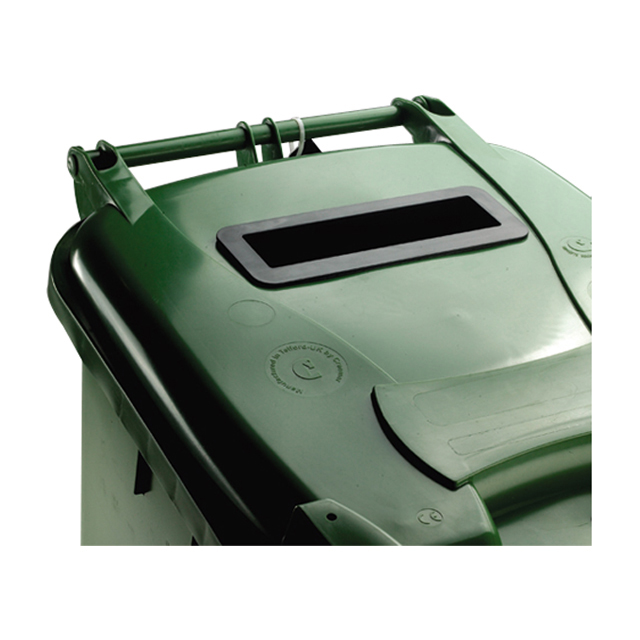 Rubbish Bins Wheeled Bin UV Stabilised Polyethylene with Rear Wheels Lid Lock 120 Litre Capacity 480x555x930mm Green