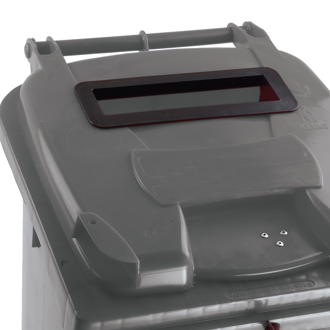 Wheeled Bin UV Stabilised Polyethylene with Rear Wheels Lid Lock 140 Litre Capacity 480x555x1070mm Grey