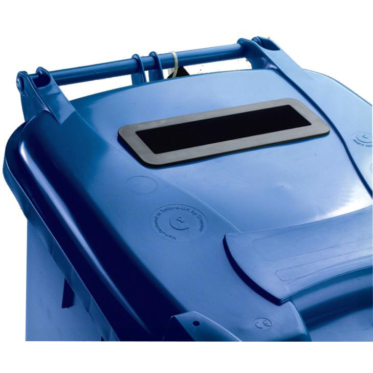 Rubbish Bins Wheeled Bin UV Stabilised Polyethylene with Rear Wheels Lid Lock 240 Litre Capacity 580x740x1070mm Blue
