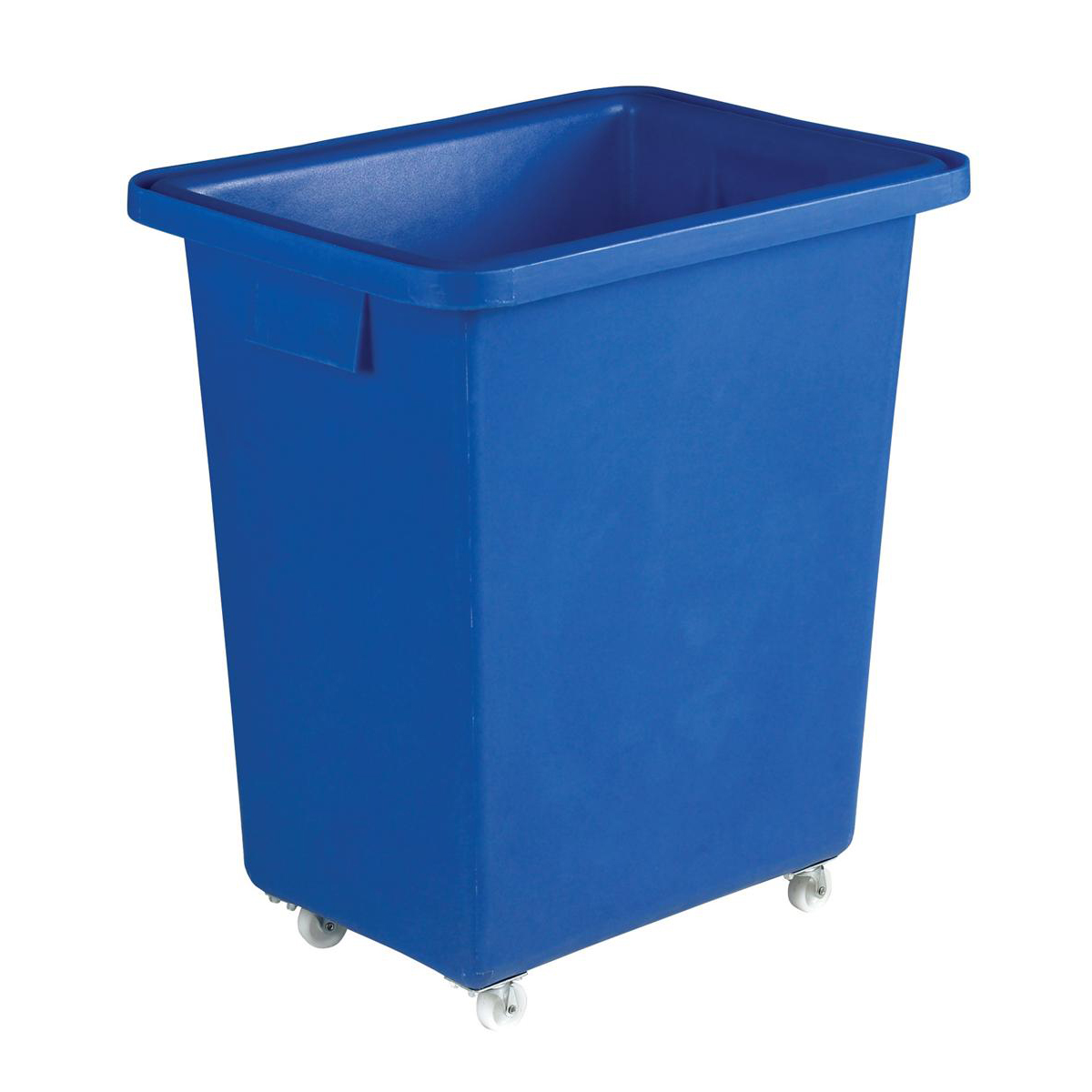 Recycling Bins Bottle Skip Four Castors Medium Density Polyethylene 580x410x700mm Royal Blue