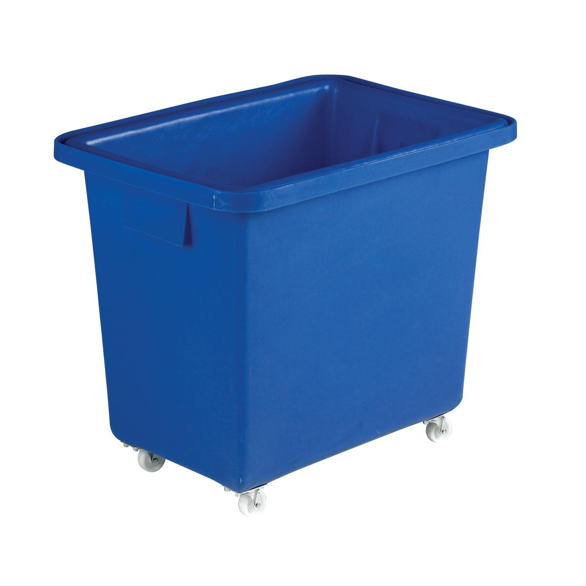 Recycling Bins Bottle Skip Four Castors Medium Density Polyethylene 610x405x560mm Royal Blue