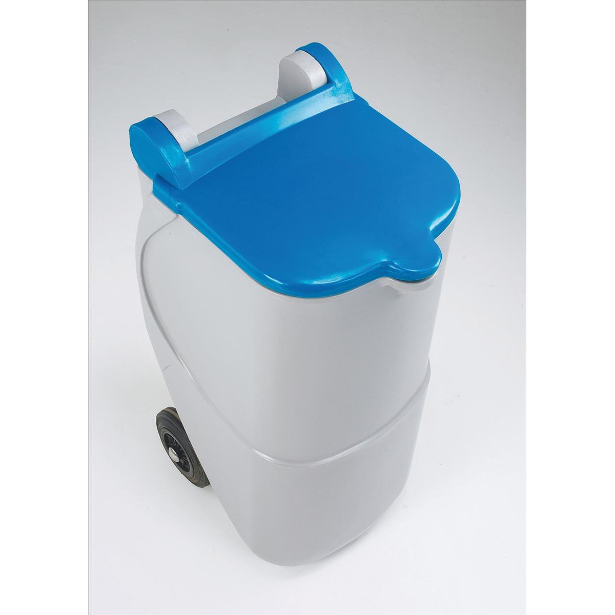 Recycling Bins Designer Mobile Recycling Wheelie Bin for Paper 90 Litre Capacity 420x500x930mm Blue
