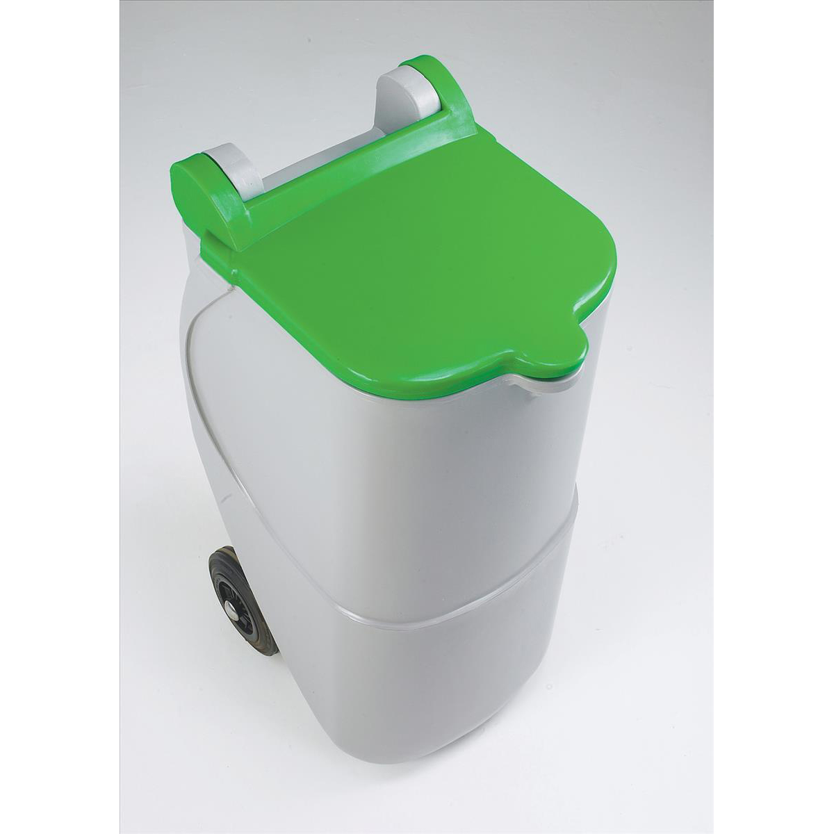 Recycling Bins Designer Mobile Recycling Wheelie Bin for Glass 90 Litre Capacity 420x500x930mm Green