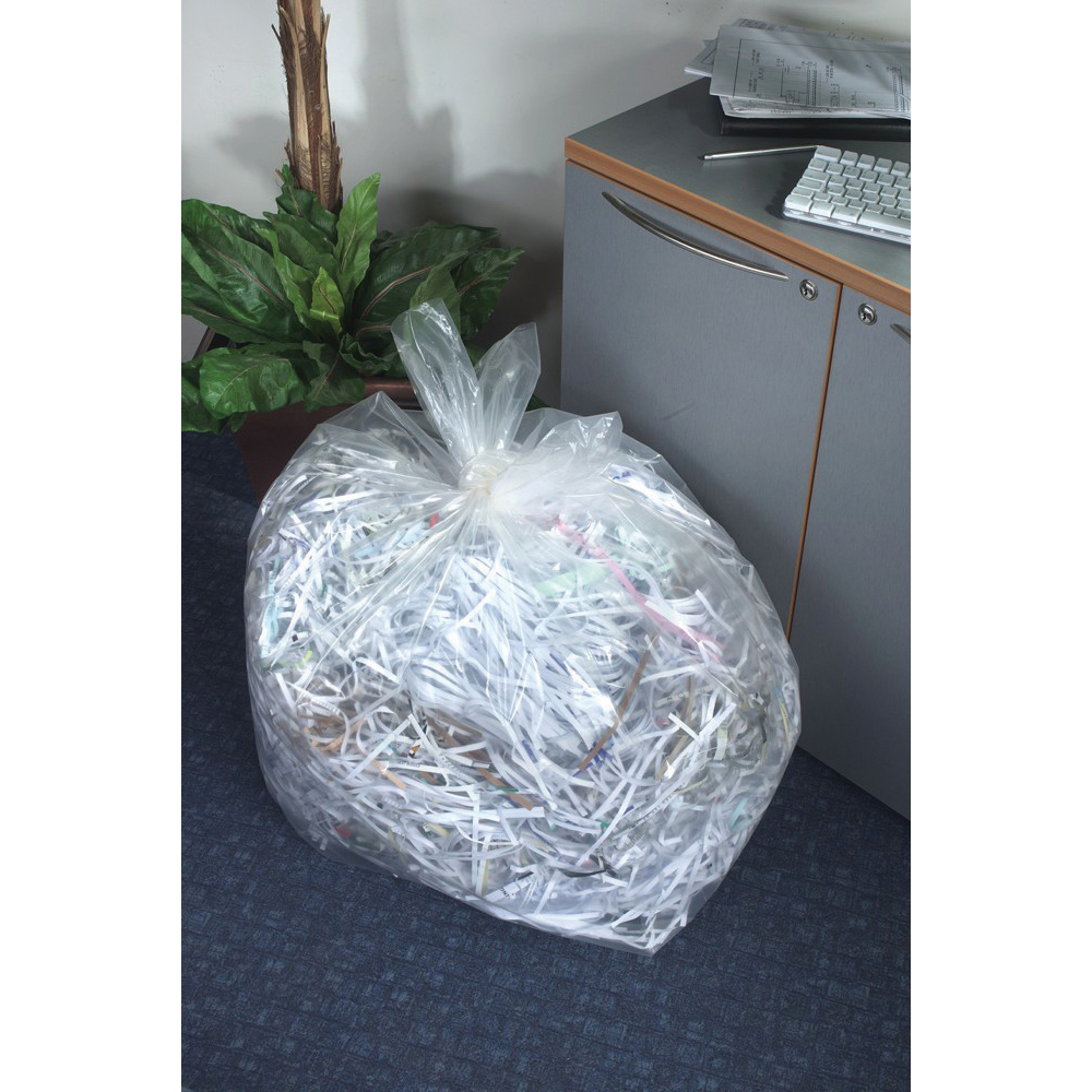 5 Star Facilities Bin Liners Super Heavy Duty 190 Litre Capacity W560/860xH1190mm Clear Pack 100
