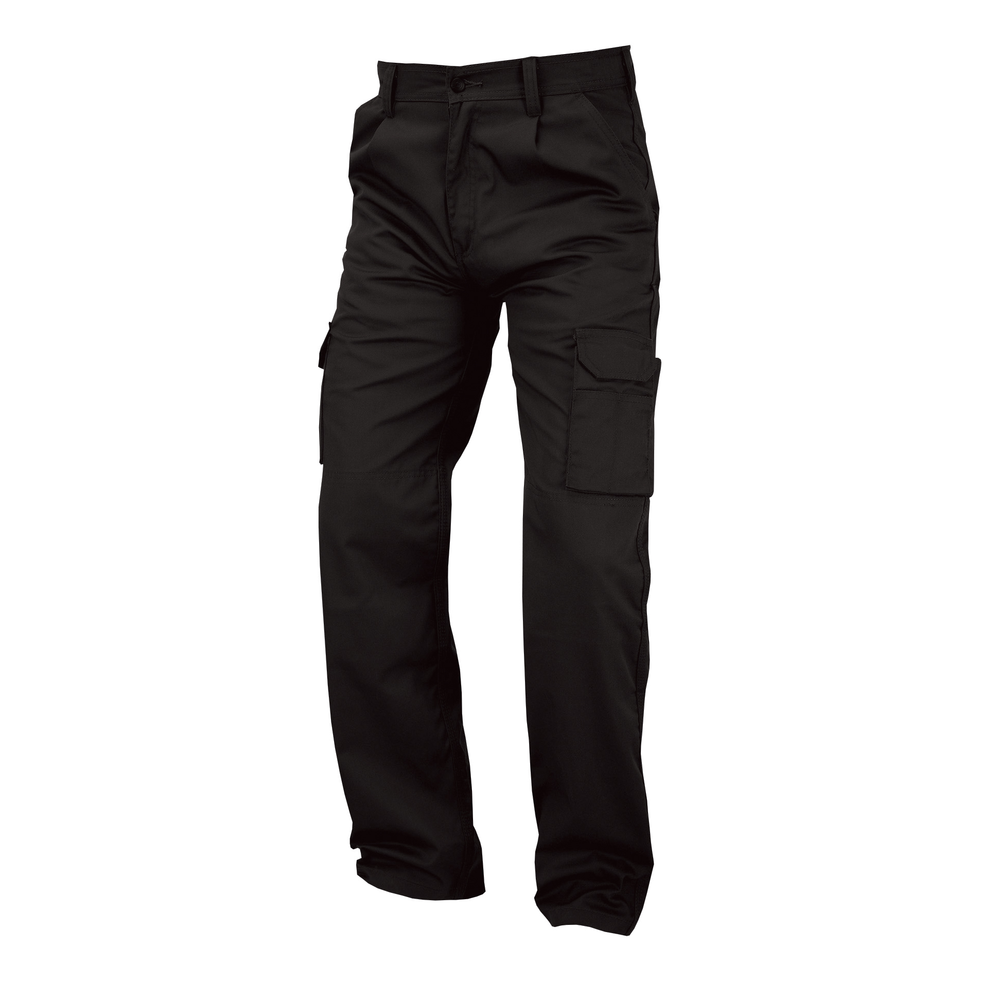 Combat Trousers Polycotton with Pockets 38in Tall Black Ref PCTHWBL38T 1-3 Days Lead Time