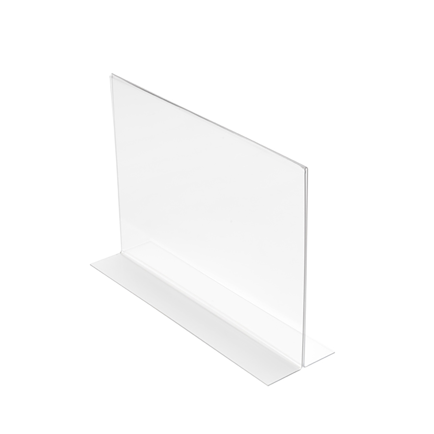 Stand Up Sign Holder Double Sided Landscape A4 Clear