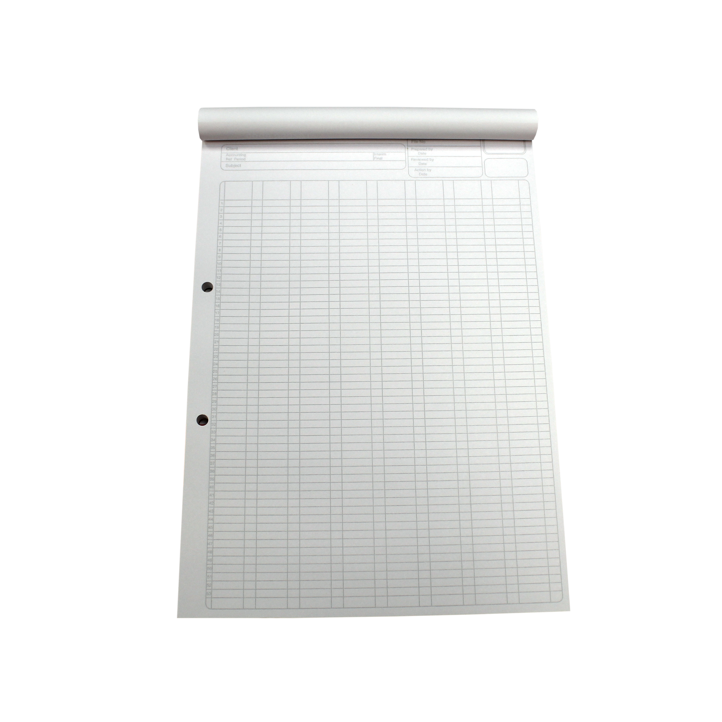 5 Star Office Analysis Pad 8 Cash Column 80 Sheets A4