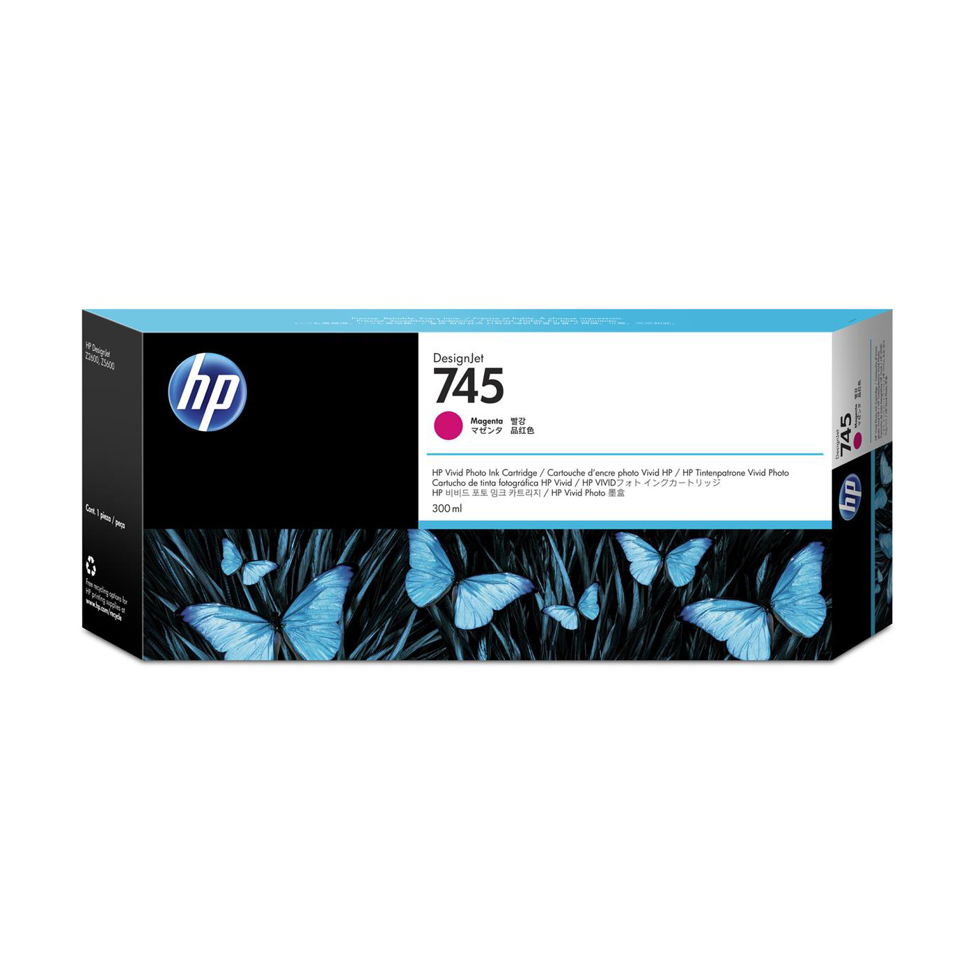 HP 745 300ml DesignJet Magenta Ink Cartridge F9K01A *3 to 5 Day Leadtime*