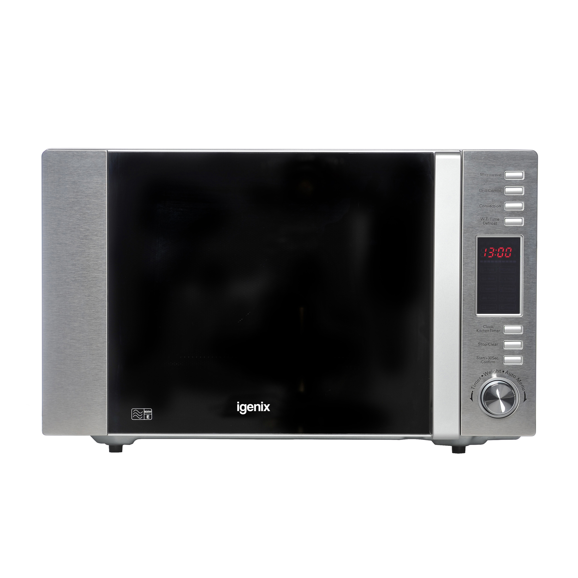 Kitchen Appliances Igenix Microwave Combination Oven and Grill 900W 5 Power Rating 30 Litre Stainless Steel IG3091