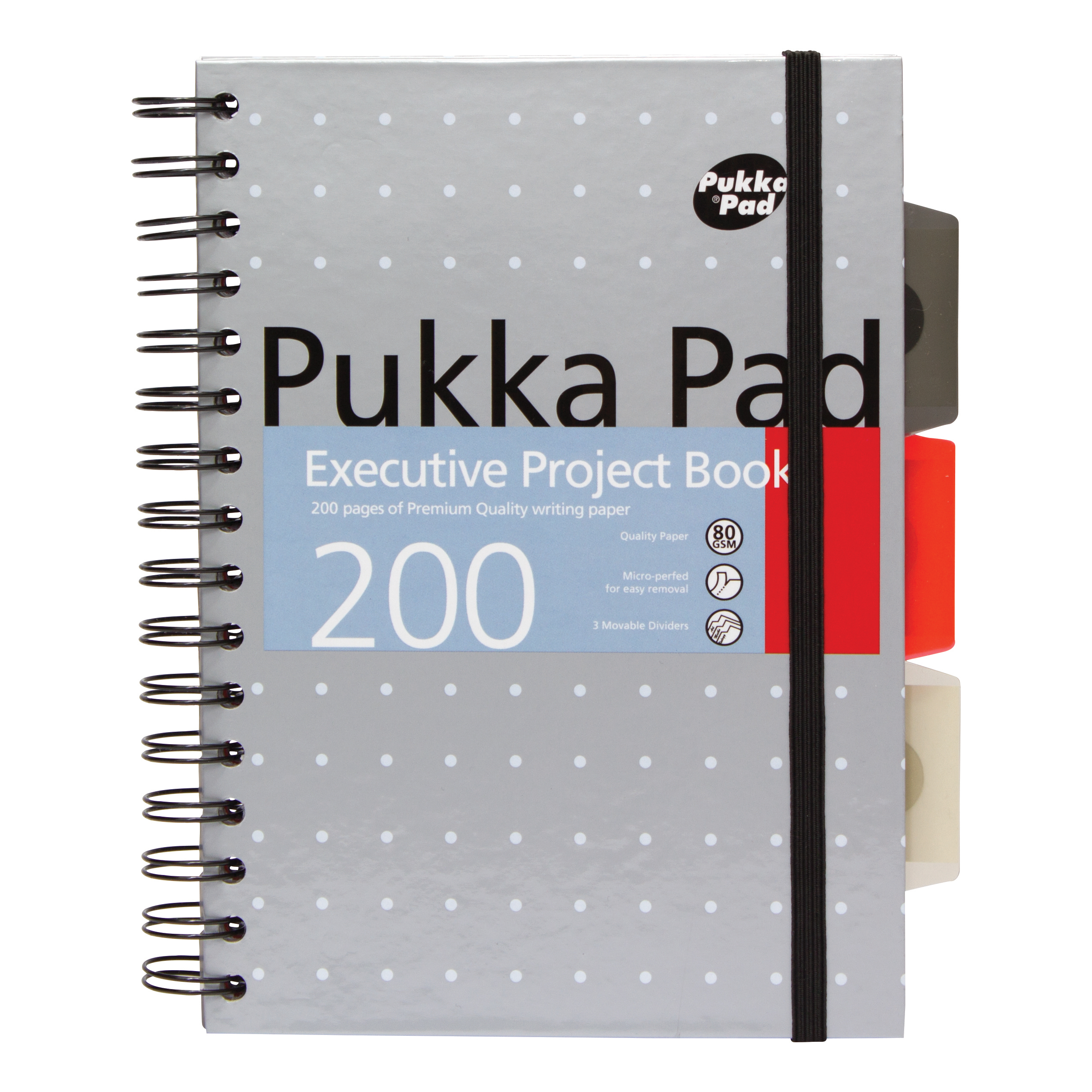 Pukka Pad Executive Project Book A5 Metallic Ref 6336-MET [Pack 3]