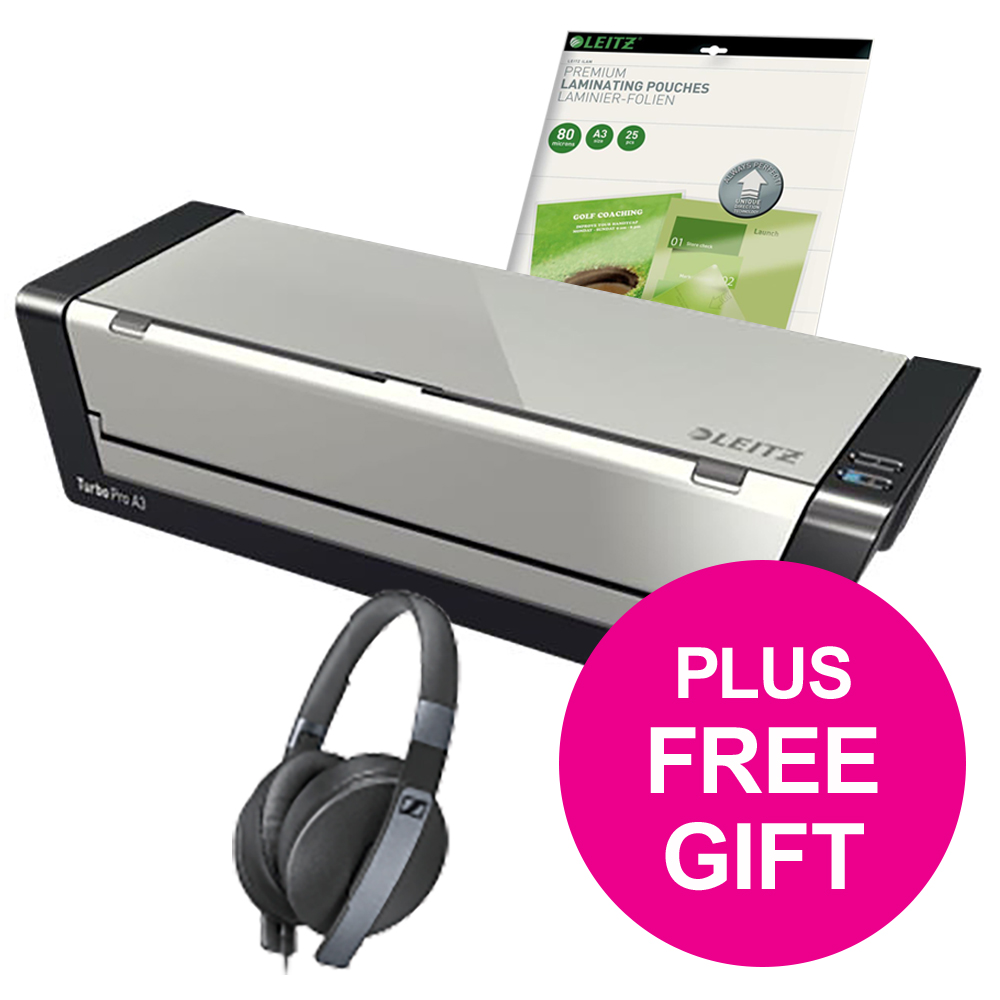 Leitz iLam Office Laminator A3 Silver Ref 75181084 and Pouches Ref 74860000 Redemption May-Sep 2018