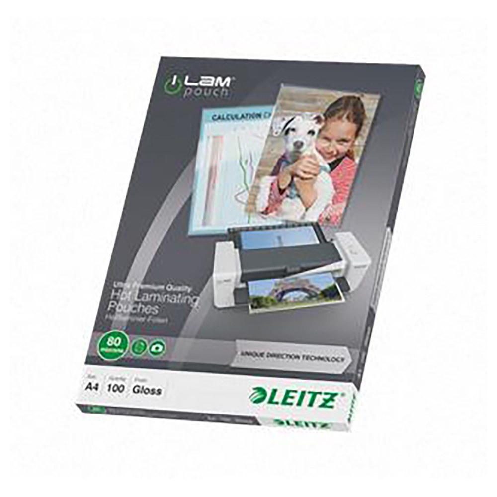 Leitz iLam HomeOffice Laminator A4 Blue Ref 73681036 and Pouches Ref 74780000 Redemption May-Sep 2018
