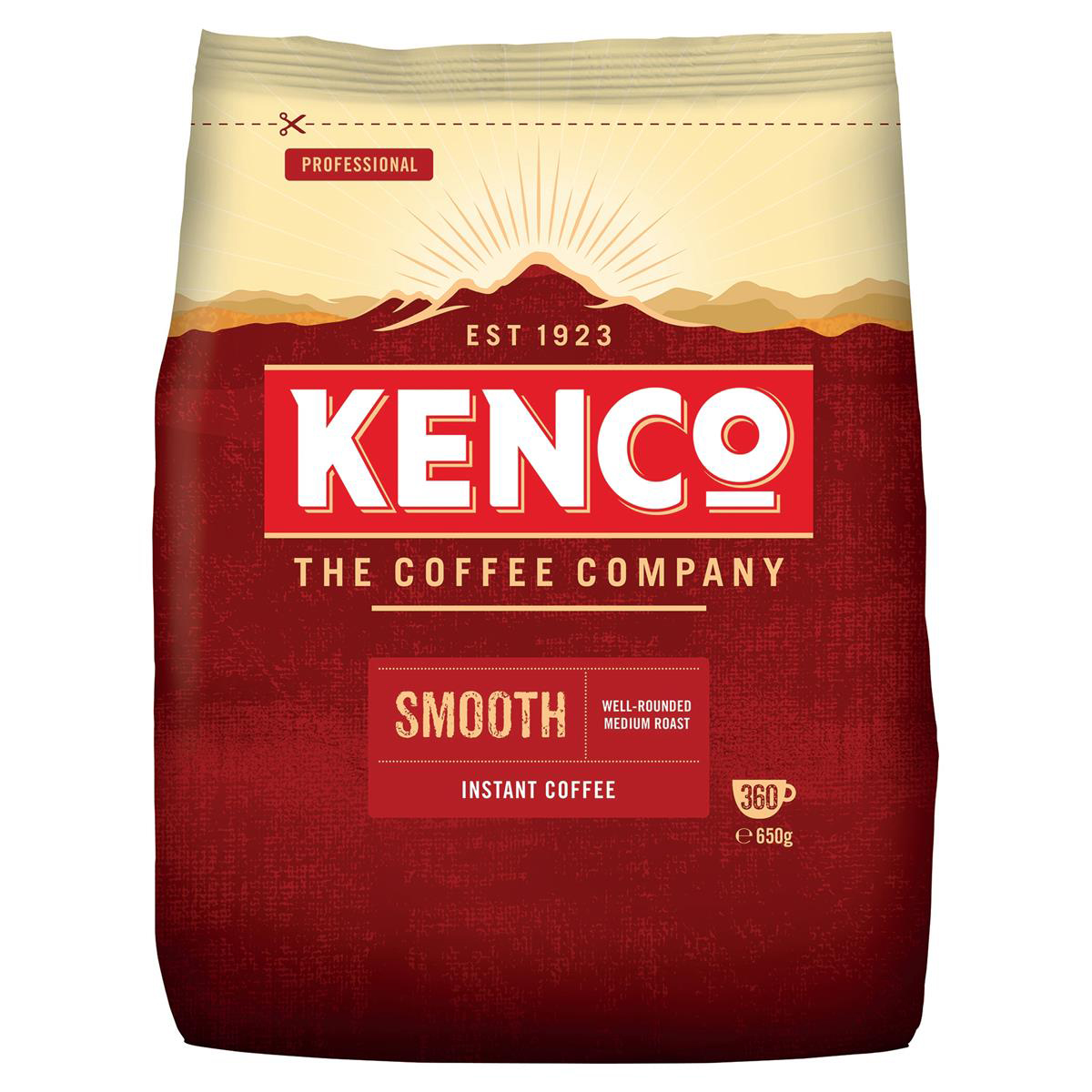Coffee Kenco Smooth Instant Coffee Refill Bag 650g Ref 4032104