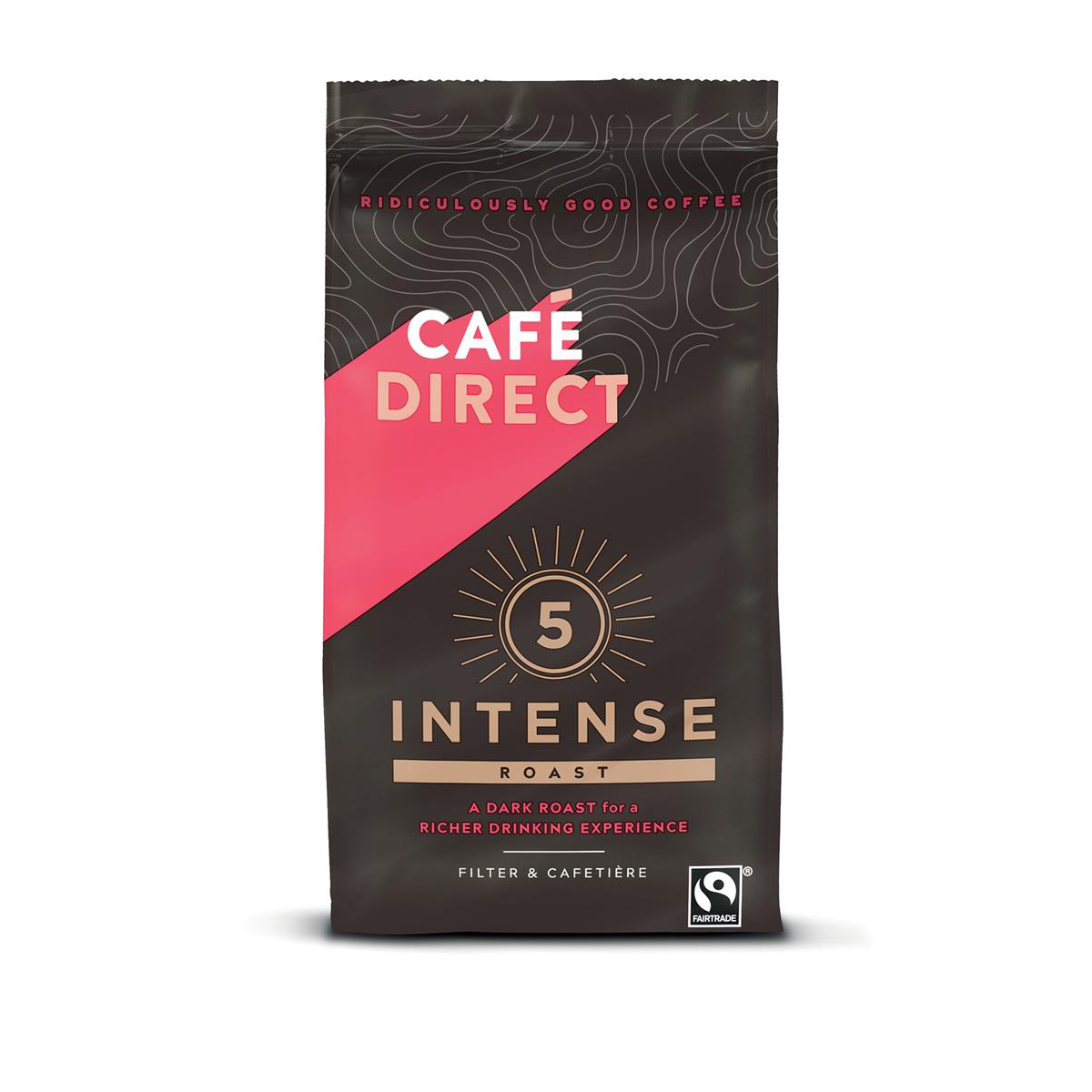 Coffee Cafe Direct Intense Roast Fairtrade Roast and Ground Coffee 227g Ref FCR0003
