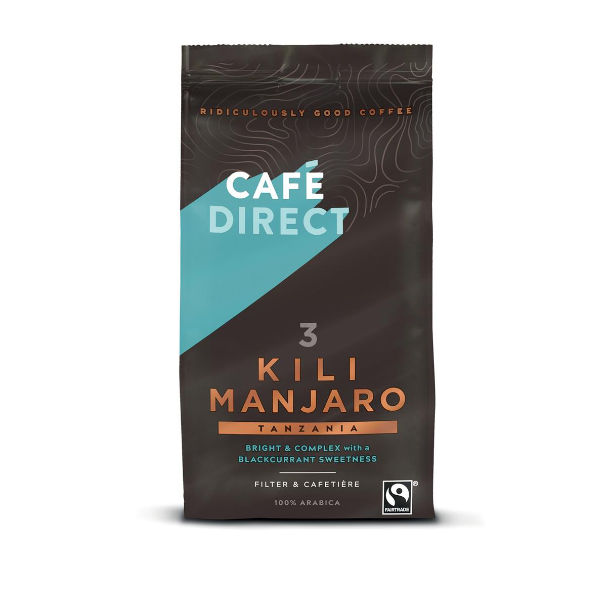 Cafe Direct Kilimanjaro Tanzania Fairtrade Roast and Ground Coffee 227g Ref FCR0004