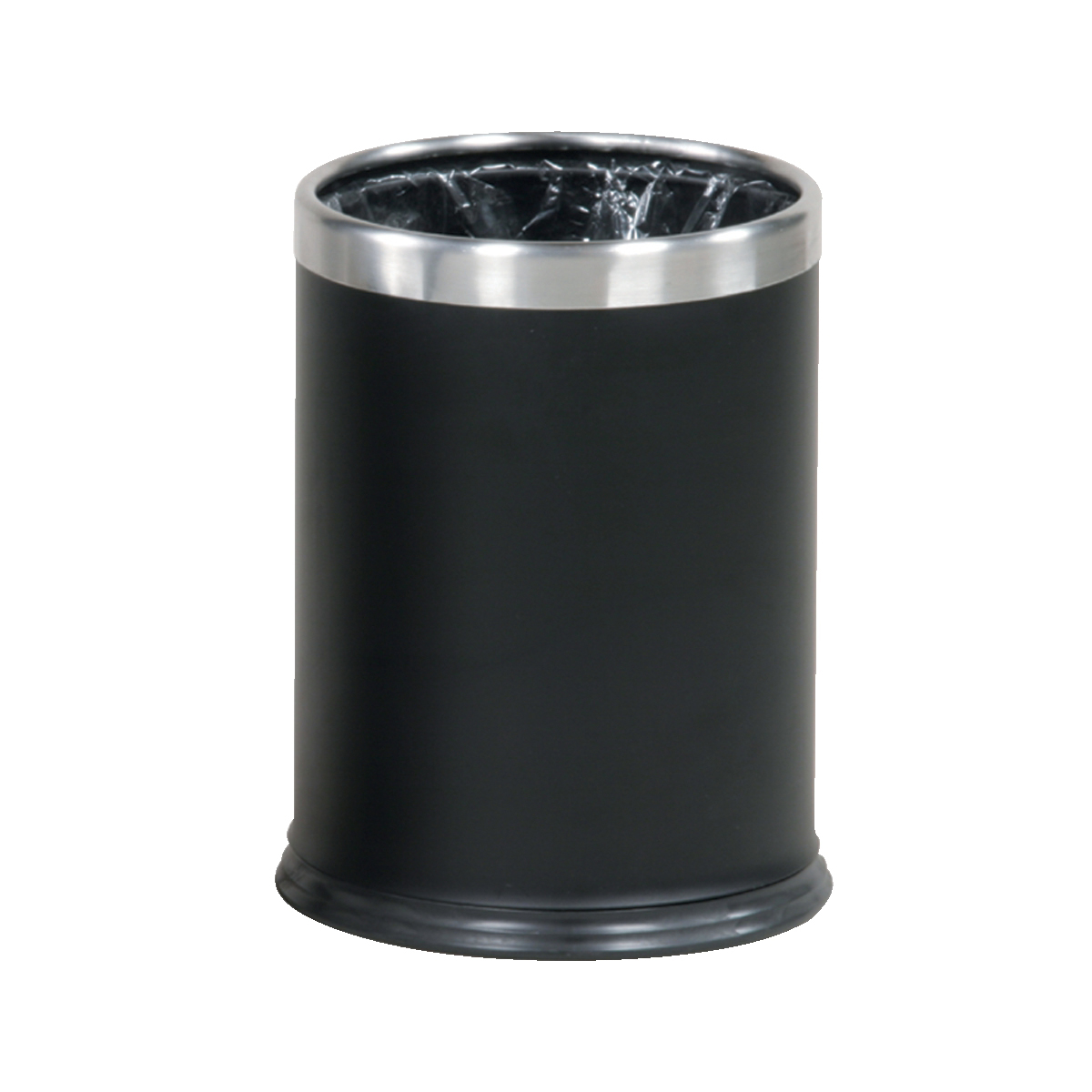 Rubbish Bins Rubbermaid Bin Hide A Bag Stainless Steel 13.2 Litres 241x318mm Black Ref FGWHB14EBK