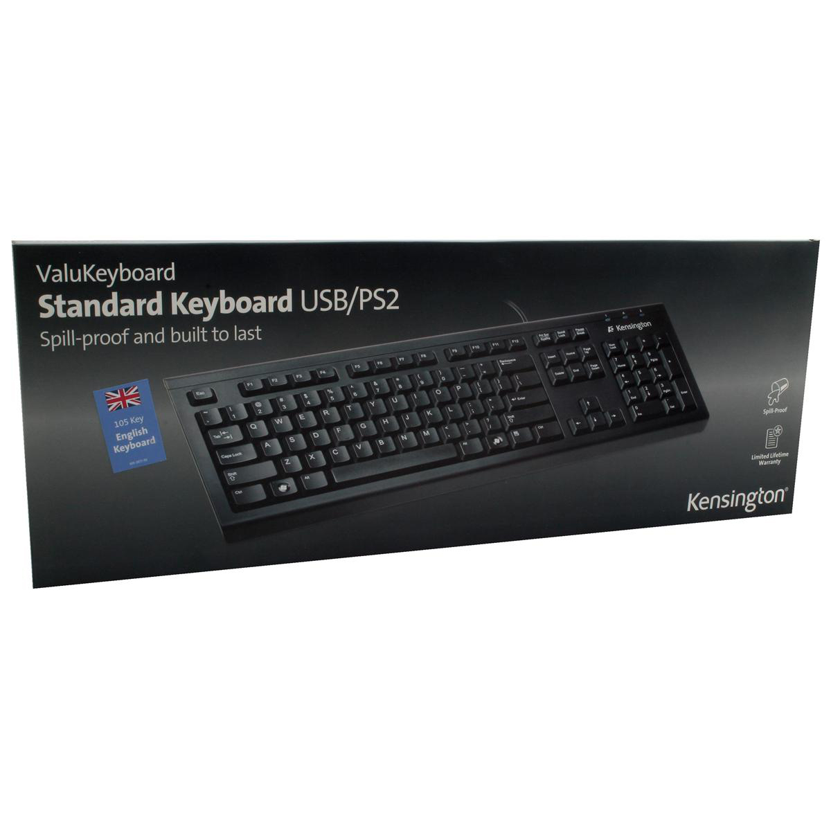 Kensington Value Keyboard USB Plug & Play Ref 1500109