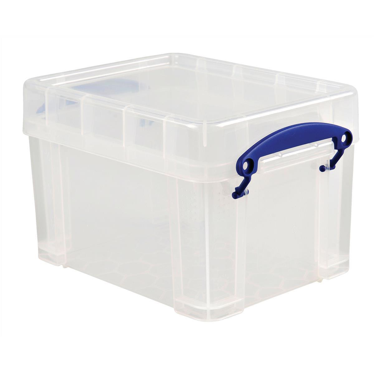 Tool Boxes Really Useful Storage Box Plastic Lightweight Robust Stackable 3 Litre W180xD245xH160mm Clear Ref 3C
