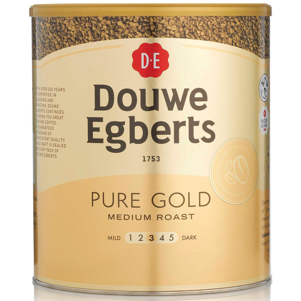 Douwe Egberts Pure Gold Instant Coffee for 470 Cups 750g Ref 4041022