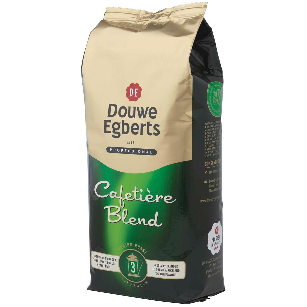 Coffee Douwe Egberts Roast & Ground Cafetiere Coffee 1kg Ref 536700