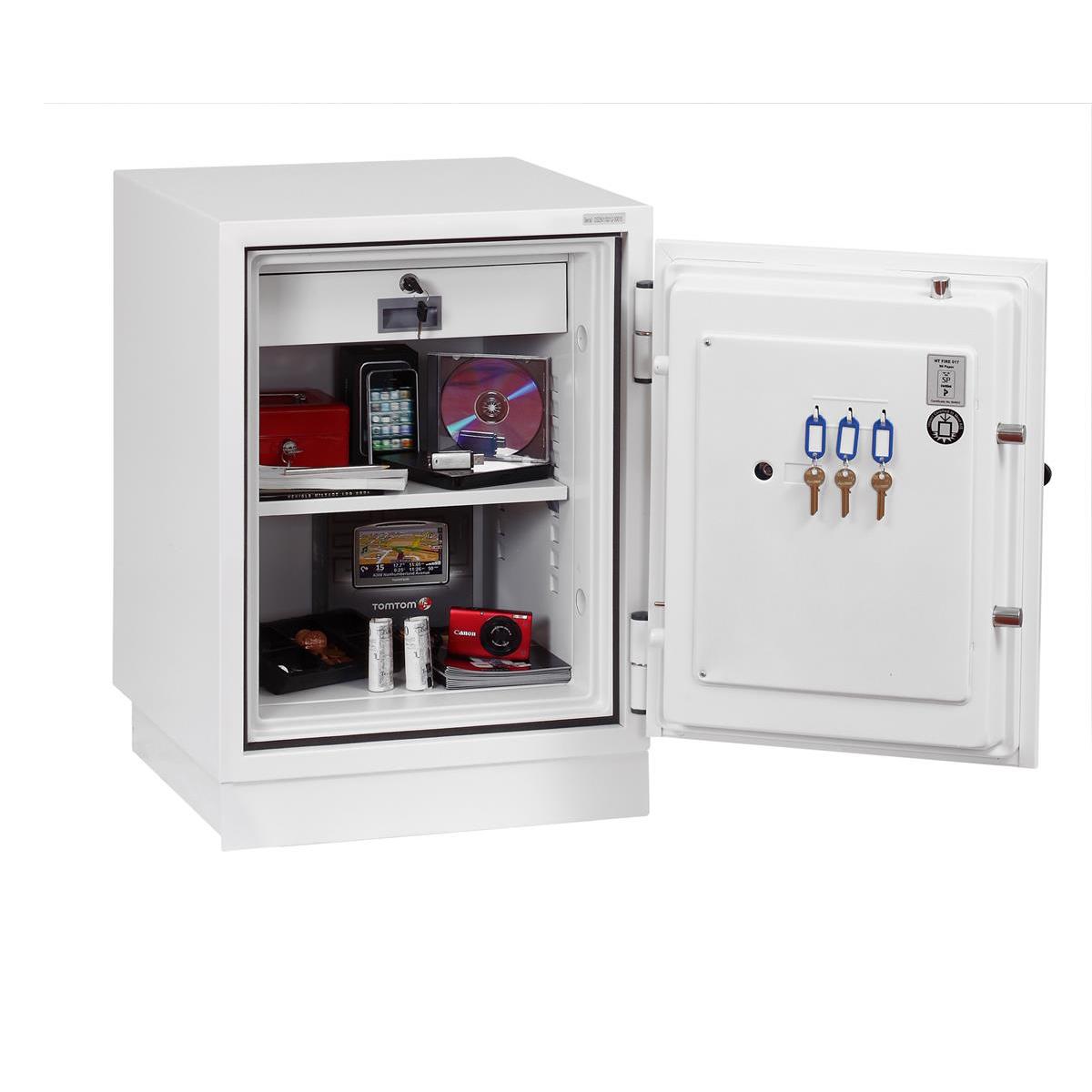 Phoenix Fire Fighter II Safe Electronic Lock 93kg 63 Litre White Ref FS0441E