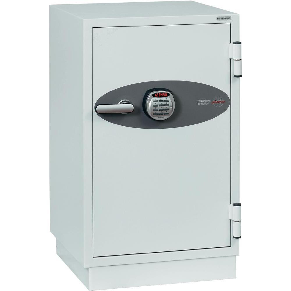 Safes Phoenix Fire Fighter II Safe Electronic Lock 120kg 84 Litre White Ref FS0442E