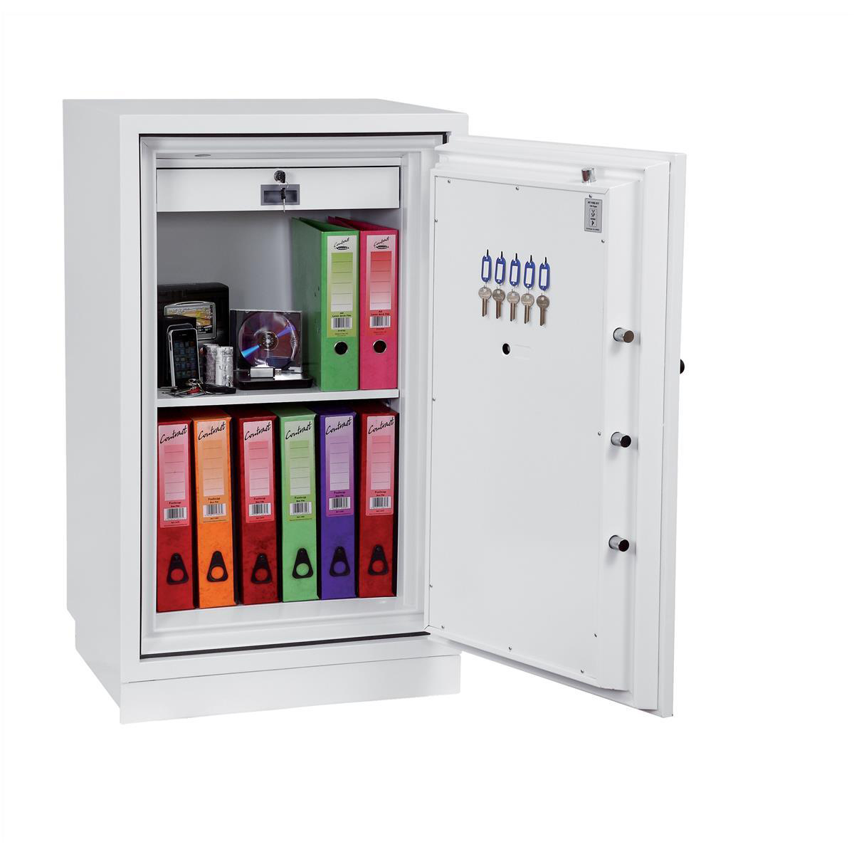 Safes Phoenix Fire Fighter II Safe Electronic Lock 218kg 145 Litre White Ref FS0443E