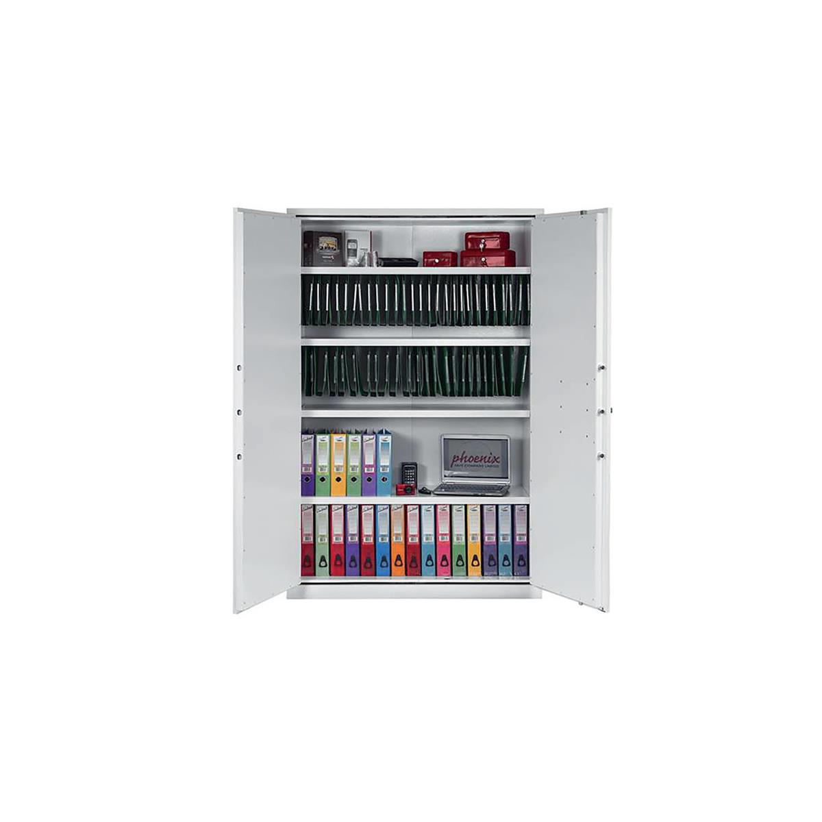 Up to 1200mm High Phoenix Fire Ranger Steel Storage Cupboard Secure 194kg 815 Litre Ref FS1514K