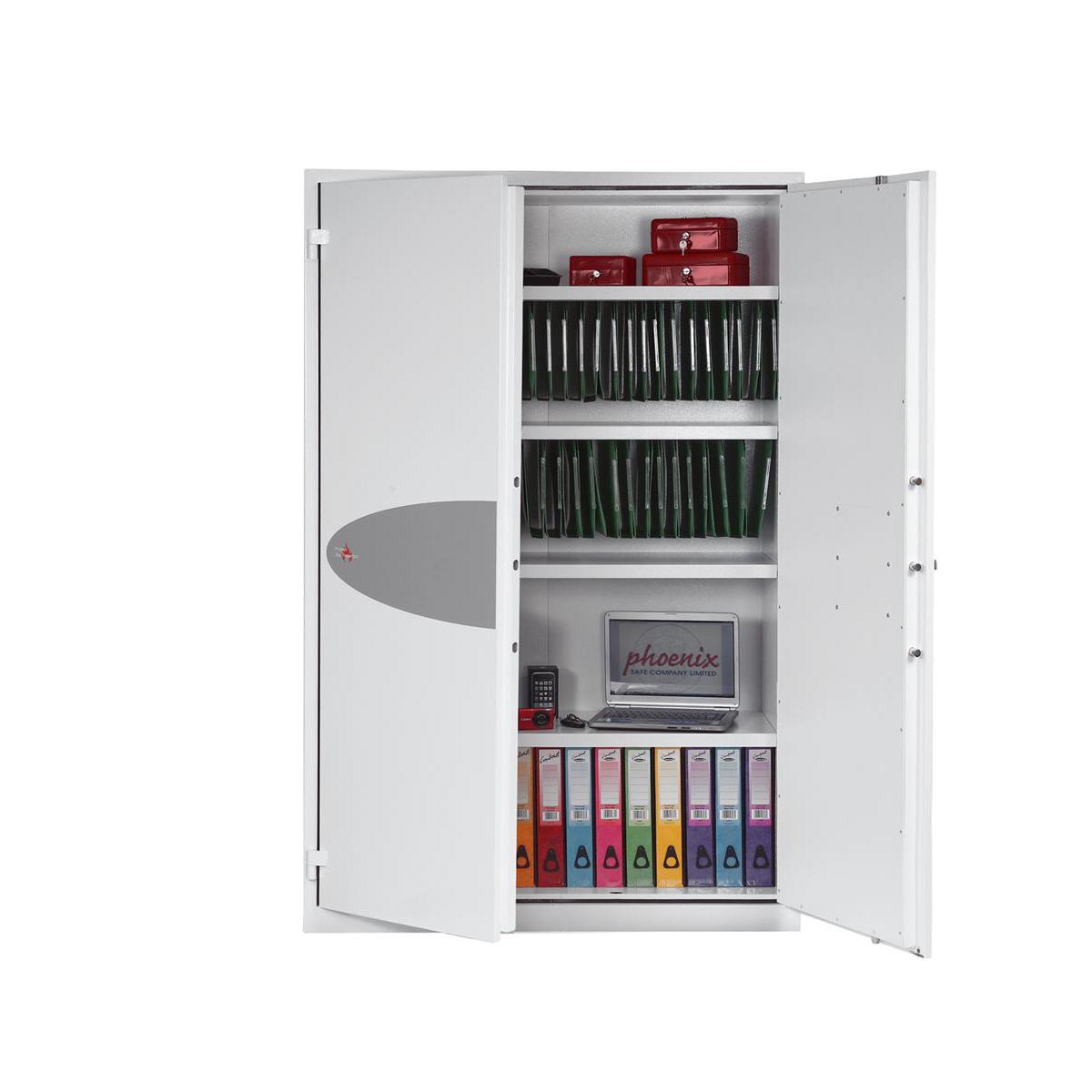 Phoenix Fire Ranger Steel Storage Cupboard Secure 194kg 851 Litre Ref FS1514K