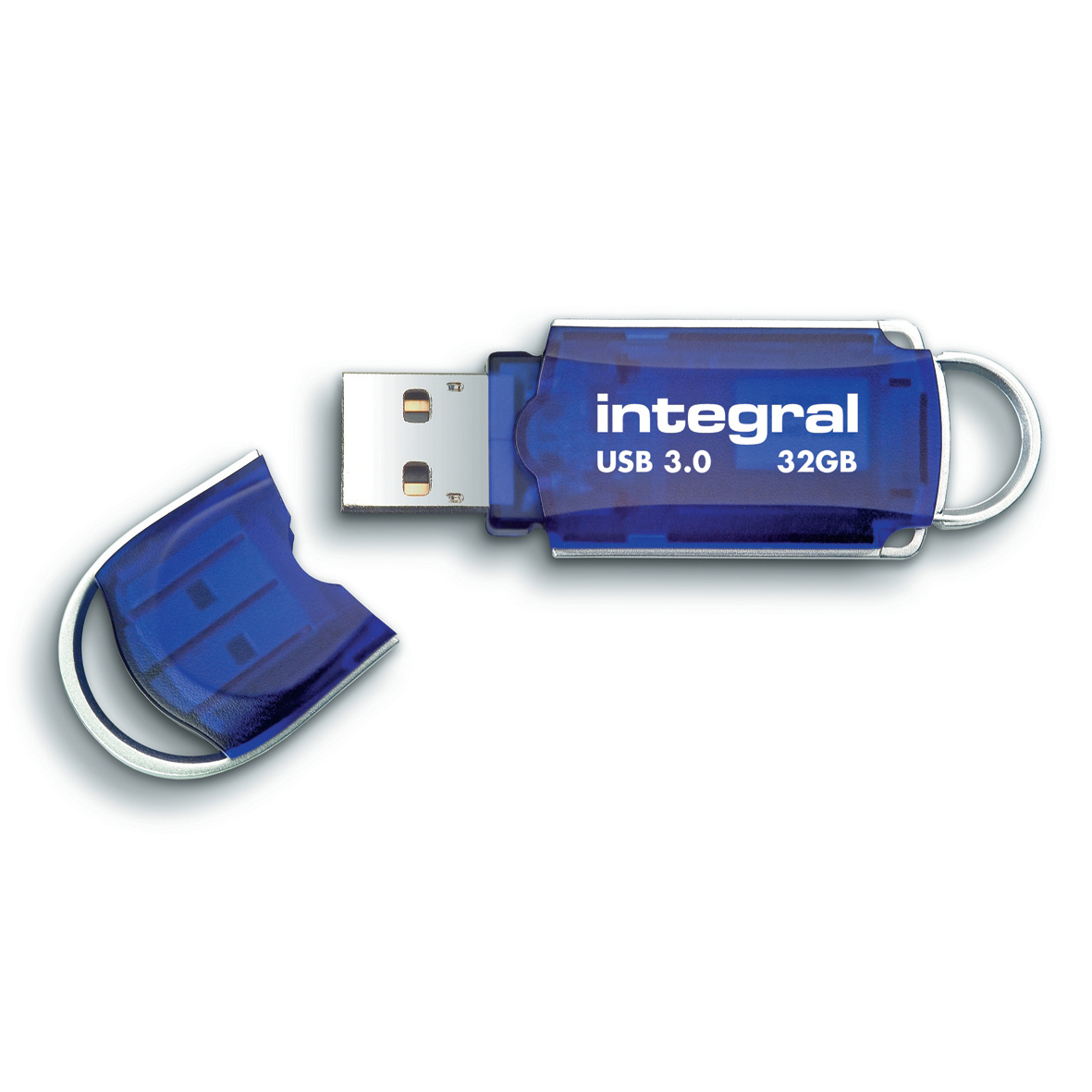 Memory Sticks Integral Courier Flash Drive USB 3.0 Blue 32GB Ref INFD32GBCOU3.0