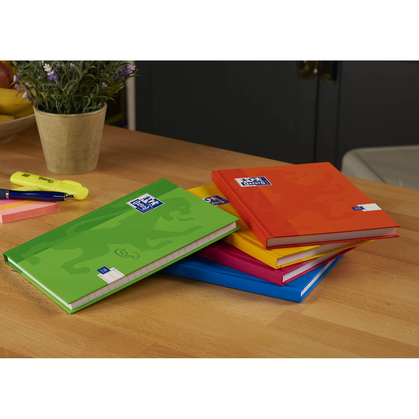 Oxford Soft Touch Casebound A5 Assorted Colours Ref 400090108 [Pack 5]