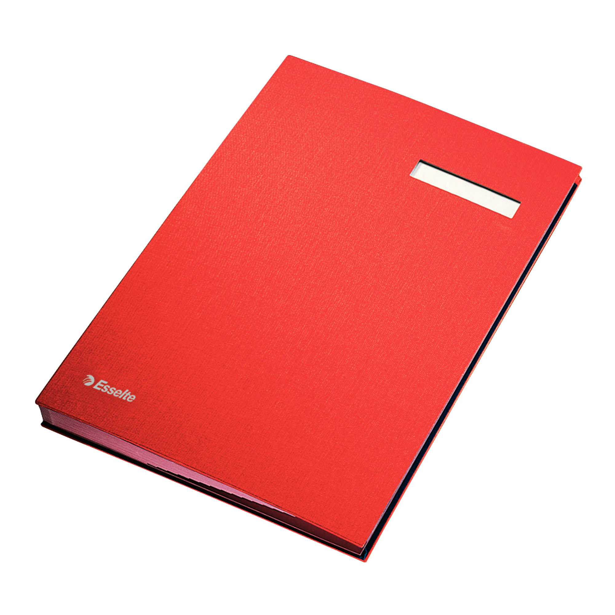 Signature Books Signature Book 20 Compartments Durable Blotting Card 340x240mm Red