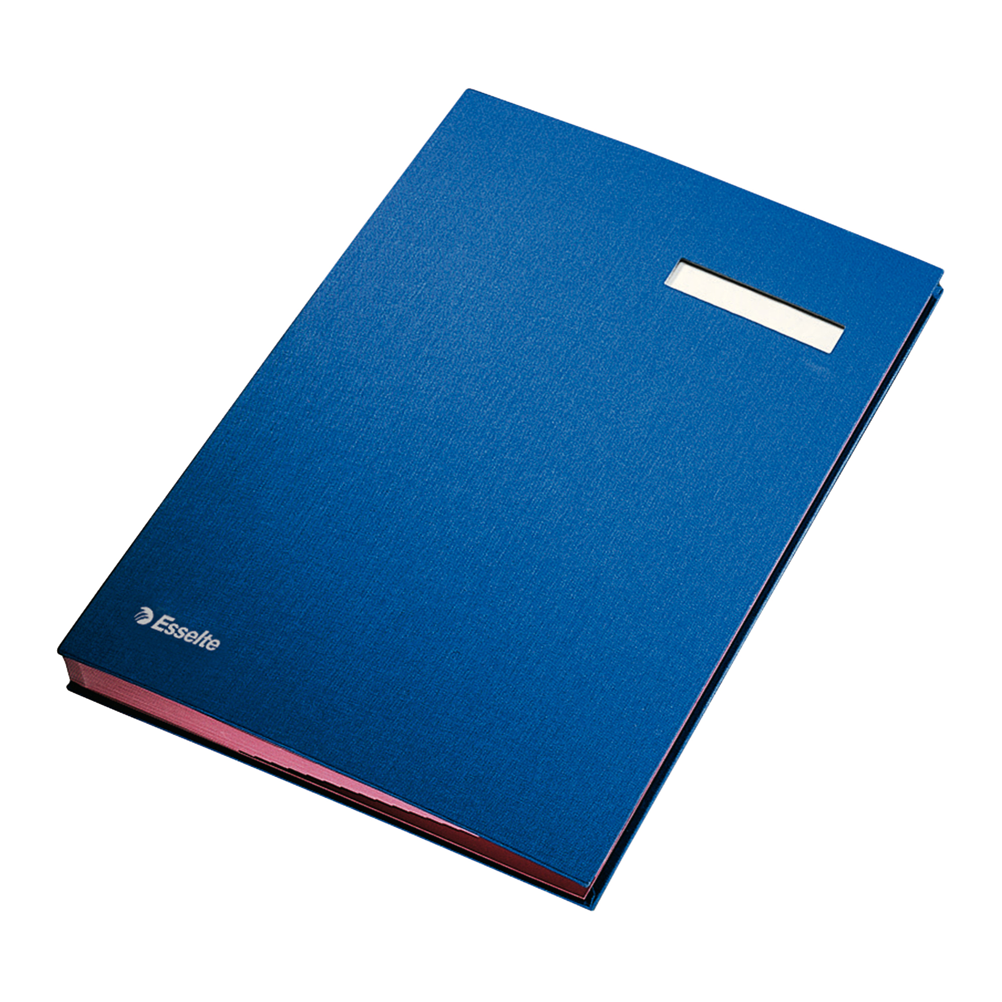 Signature Books Signature Book 20 Compartments Durable Blotting Card 340x240mm Blue