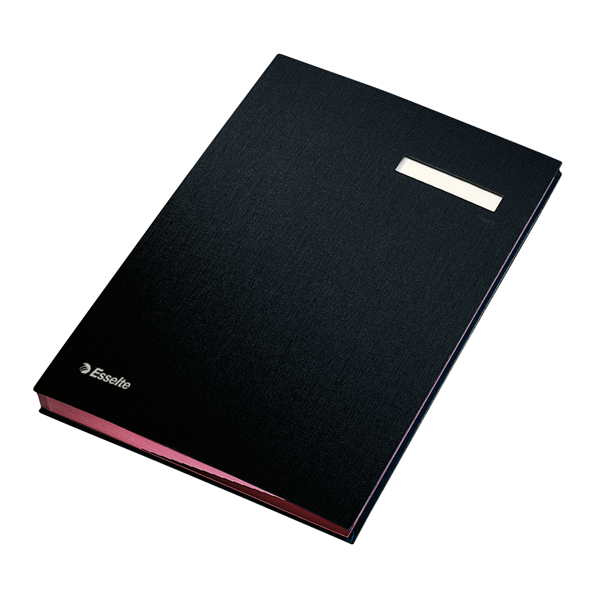 Signature Books Signature Book 20 Compartments Durable Blotting Card 340x240mm Black
