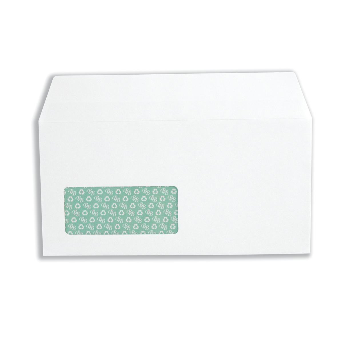 Basildon Bond Envelopes FSC Recycld Wallet P&S Window 120gsm DL 220x110mm White Ref D80276 Pack 100