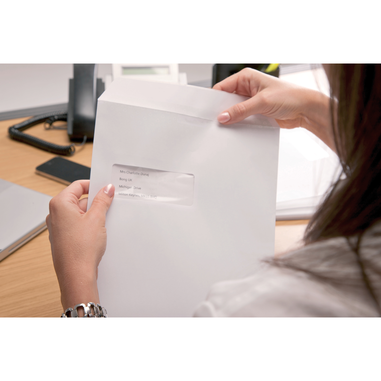 Basildon Bond Envelopes FSC Recycled Pocket Peel & Seal Wdw 120gsm C4 324x229mm Whte Ref B80285 Pack 50