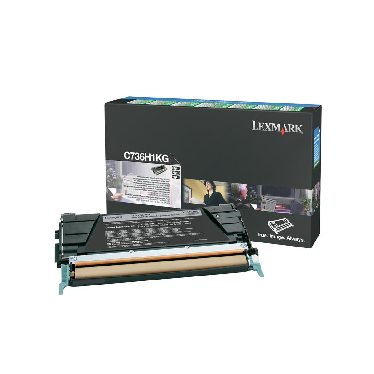 Lexmark C736/X736/X738 Laser Toner Cart High Yield Return Programme Page Life 12000pp Black Ref C736H1KG