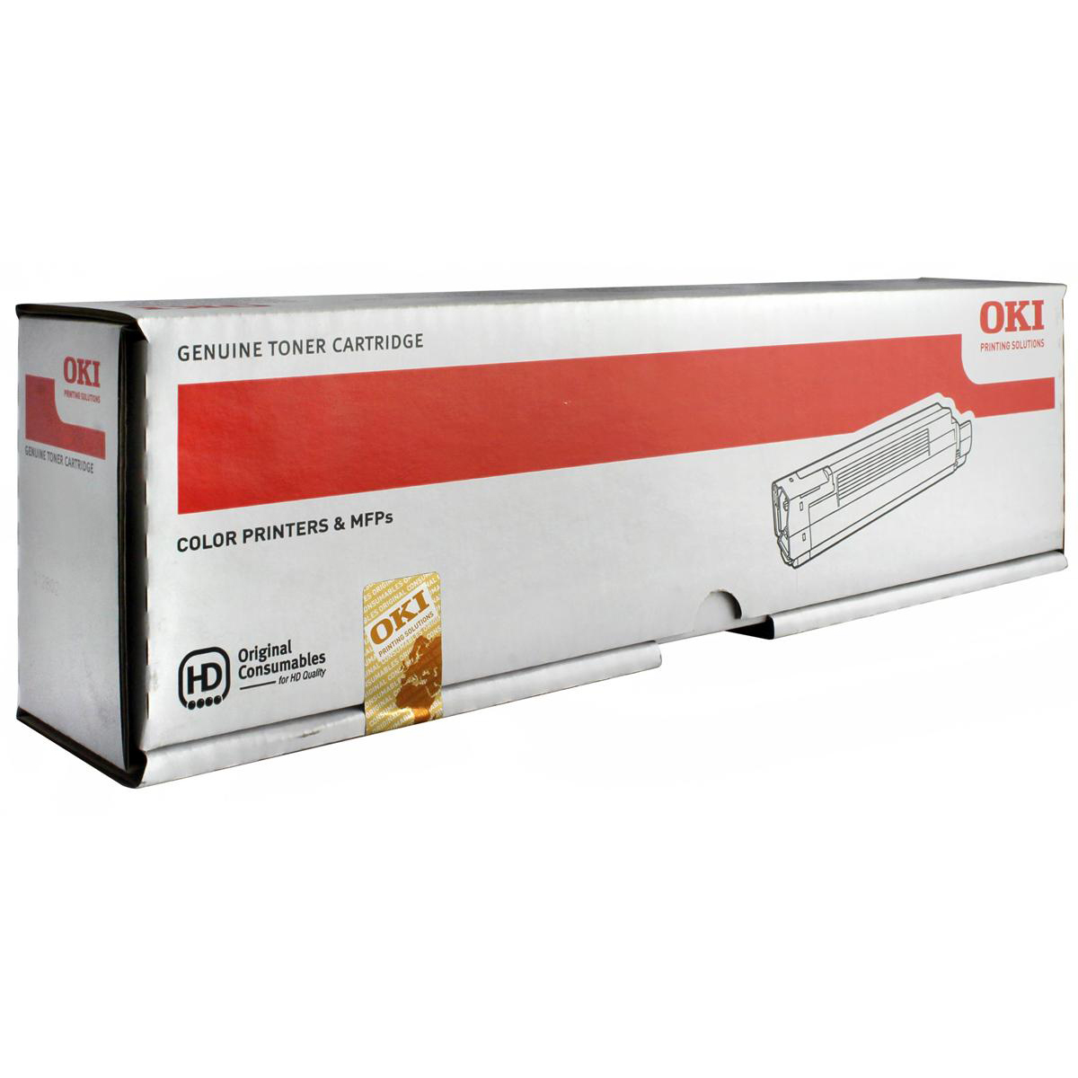 OKI Laser Toner Cartridge Page Life 7300pp Black Ref 44643004