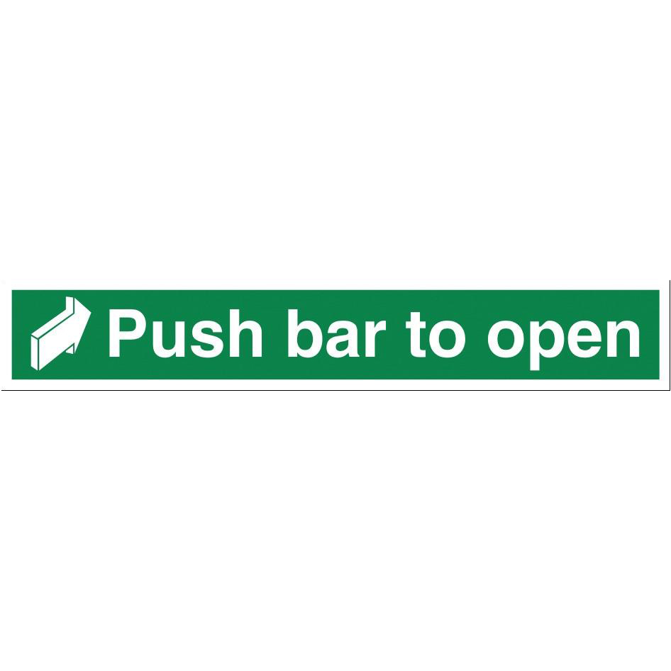 Stewart Superior Push Bar to Open Sign W450xH75mm Self-adhesive Vinyl Ref SP127SAV