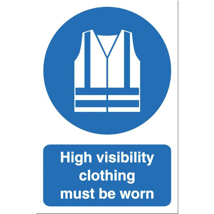 Stewart Superior High Visibility Clothing Sign Outdoor Use W200xH300mm Foamboard Ref FB060PVC