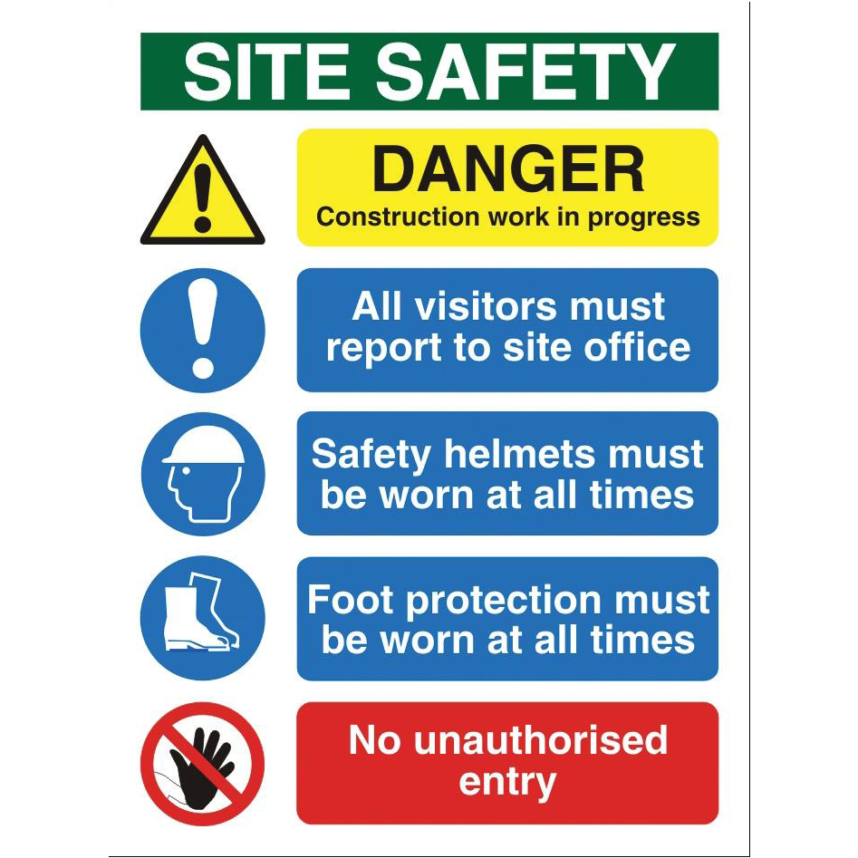Stewart Superior Site Safety Sign Outdoor Use W300xH400mm Foamboard Ref FB070PVC