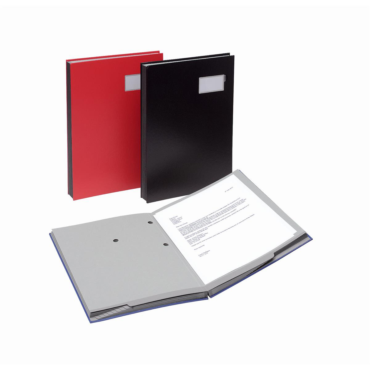 Image for Signature Book 20 Compartments Durable Blotting Card 340x240mm Red